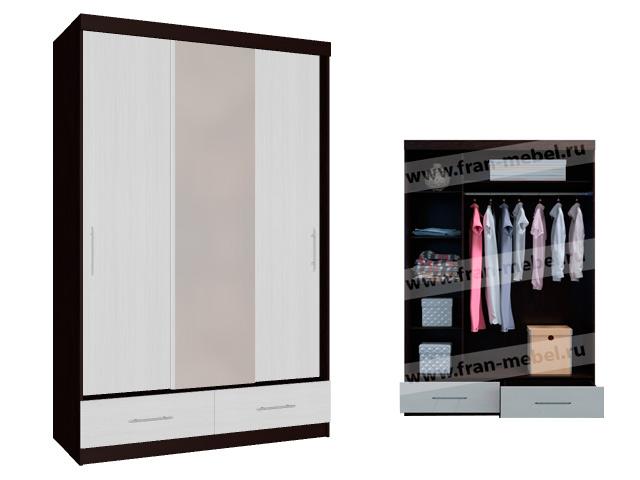 шкаф купе венге и вудлайн кремовый фото нотки